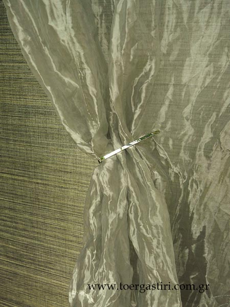 inox look fabric, special effect curtain fabric