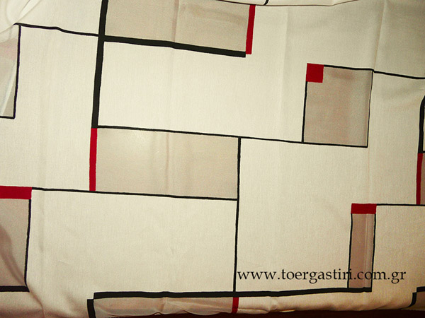 roman mondrian, modrian design curtain fabric
