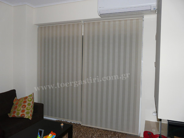 striped roller shade, living room striped roller shades