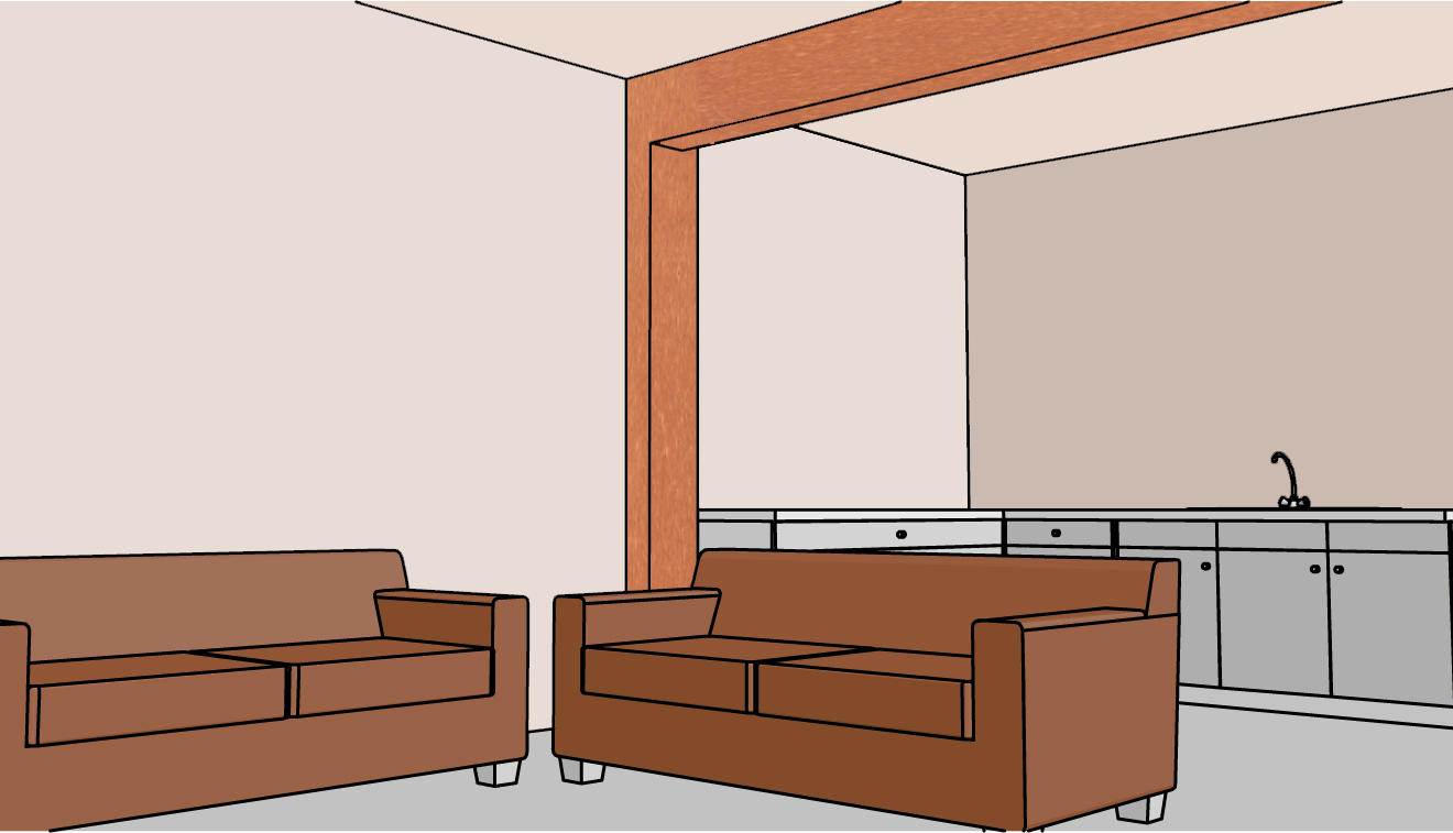 accent beam in living room, beam in the living room, how to color a ...