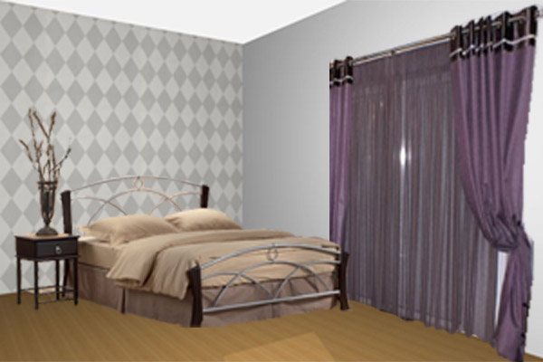 What color scheme to pick for my bedroom for Wallpaper for wall behind bed