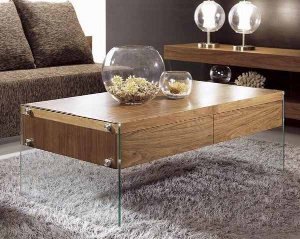 What Color Coffee Table And TV Stand To Match With Dark Gray Couch - Maple and glass coffee table