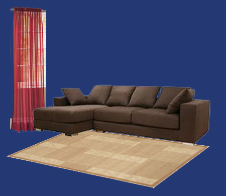 What color walls, curtains and carpets blend with dark brown ...