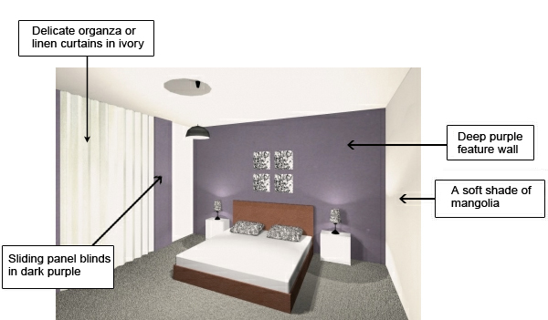colors  bedroom  decoration  dark colors  purple. Can I choose dark colors for the bedroom