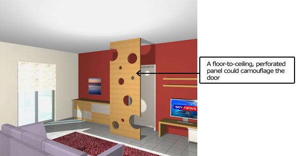 Room Divider Hide A Door Camouflage