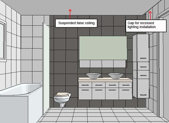 How To Arrange Sanitary Ware In My Rectangular Shaped Long