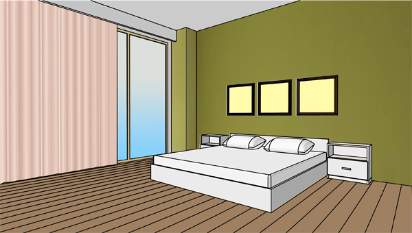 Olive grey behind bed, color in bedroom, color behind the bed, ovive ...