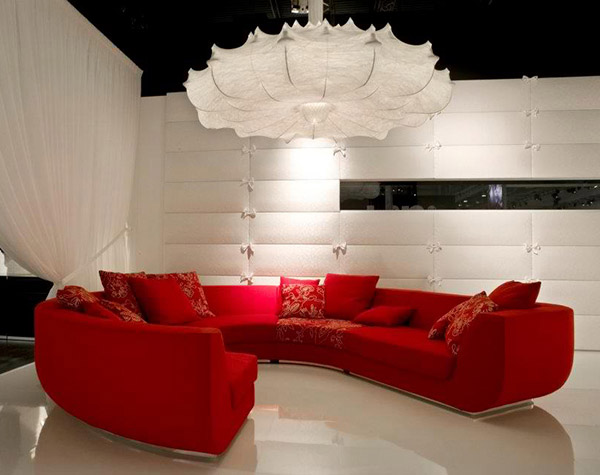 Red Sofa Living Room Design Interior Idea Marcel
