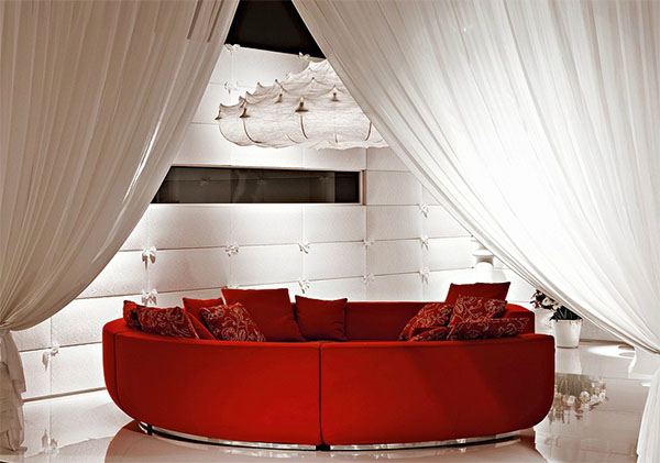 What curtain color goes with red sofa Rotes sofa kiel