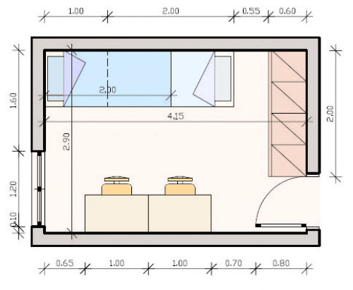 Bedroom makeover for two girls Bedroom furniture layout plan