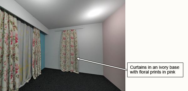 Walls in different colors. What curtains to choose?