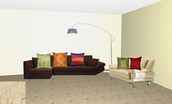 What color cushions go with my dark chocolate and beige - Does green and orange match ...