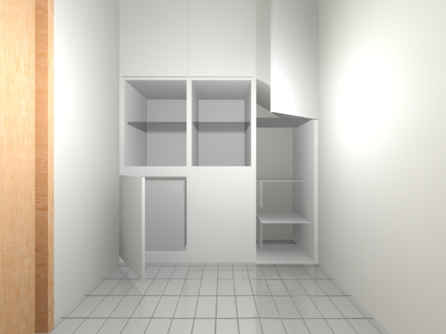 Another alternative could to be the placement of large mirrors to the