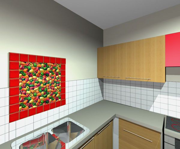 kitchen tiles mural01 - No Backsplash In Kitchen