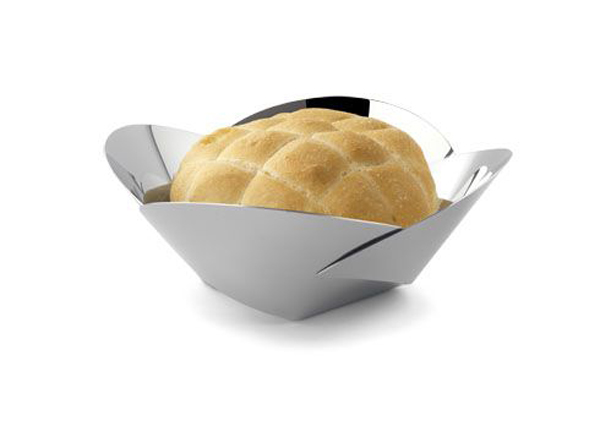 Pianissimo-basket bread ABI04, basket bread, inox basket bread, inox bowl, metal bowl