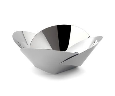 Pianissimo-basket empty ABI04, basket bread, alessi product, metal bowl, aluminium bowl