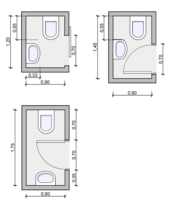 Types of bathrooms and layouts for Bathroom sample layouts