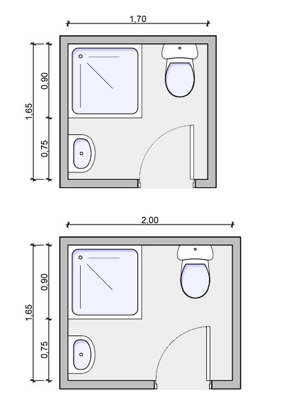 Toilet Floor Plan : Toilet layout drawing