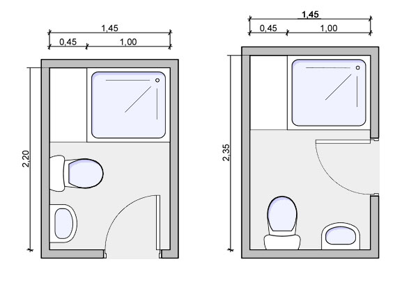 Types of bathrooms and layouts for Bath simple design tool
