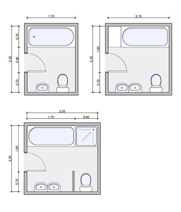 Types of bathrooms and layouts for Bathroom 8 x 8 layouts