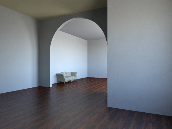 Photorealistic room, living room rendering, empty room rendering