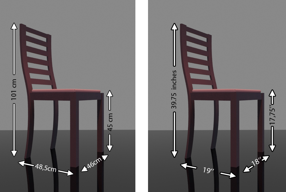 Dining Chair Measurements Size Dimensions