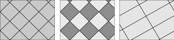 diagonal, tile, floor, layout