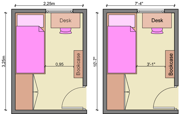 Kid 39 s bedroom layouts with one bed Room layout design