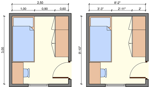 Kid\'s bedroom layouts with one bed