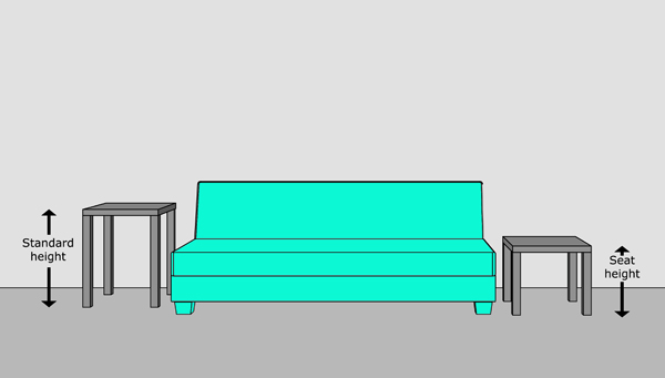 Standard Sofa Table Height Standard Sofa Table Dimensions