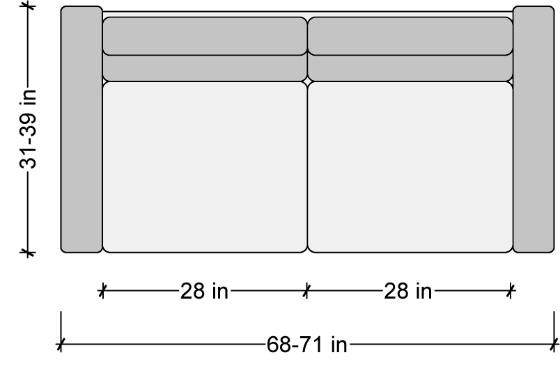 Sofa Sizes sofa dimensions