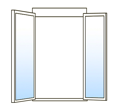 Casement window, types of windows, double casement window