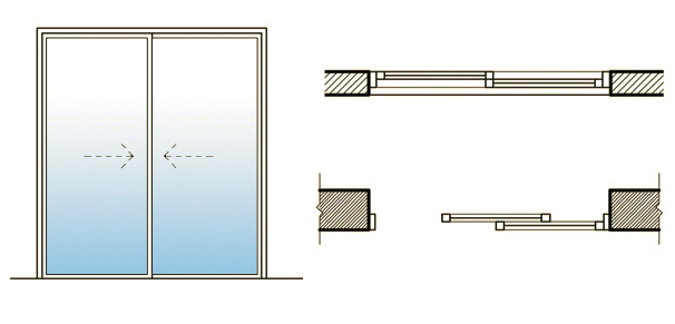 Images Of Sliding Door Plan Drawing