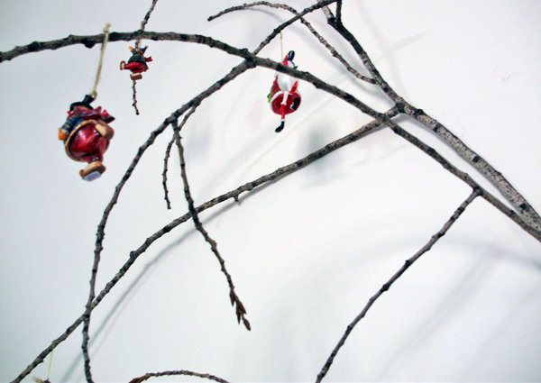 Christmas branches decoration, decoration with branches, christmas decoration, branches in decoration