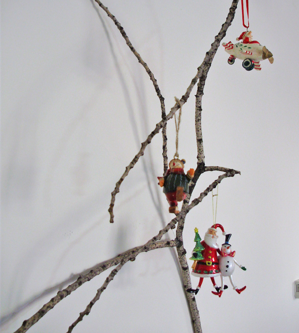 Christmas branches decoration, christmas decoration with branches, tree branches, christmas decoration,