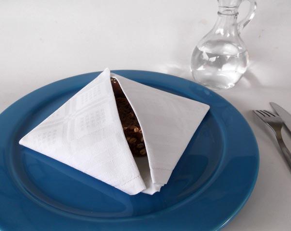 Napkin Folding A Simple Bread Basket
