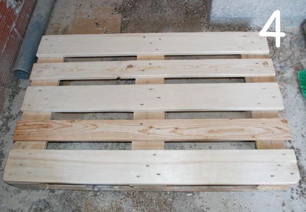 Pallet bed, palled frame furniture