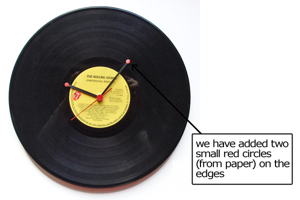 wallclock, diy, vinyl record, recycle art