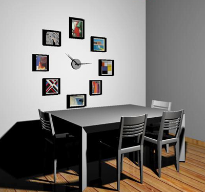 Wall Clock With Frames, Wll Clock With Pictures