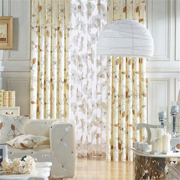 Country Style Window Curtains With Floral Patterns Can
