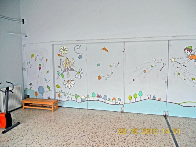 wall painting classroom