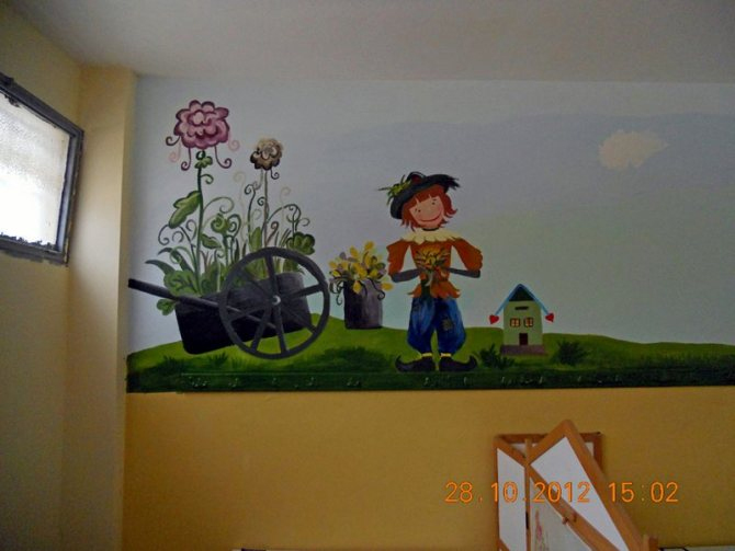 wall paintings school