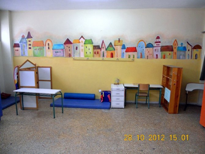 wall drawing school