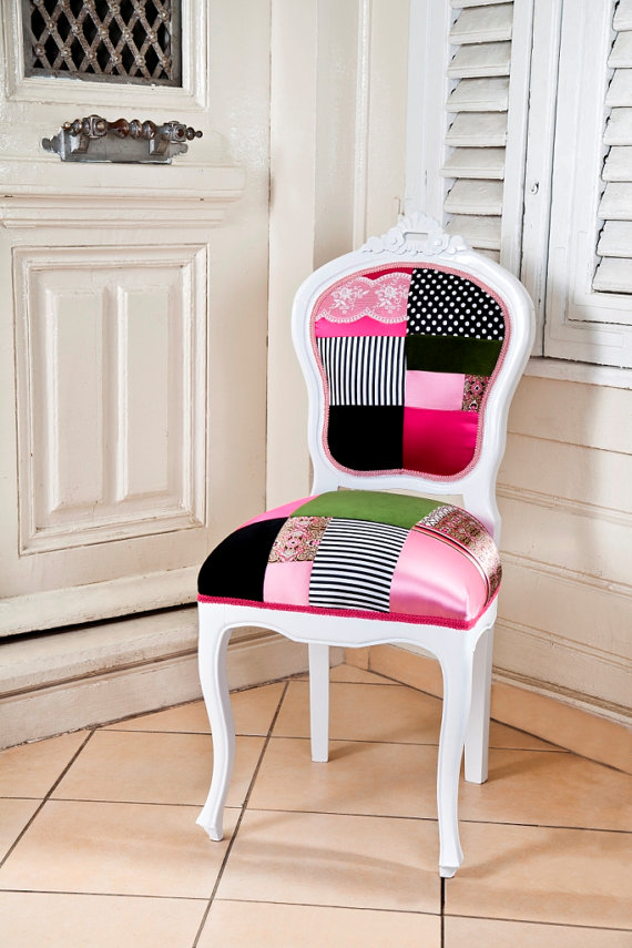 Paonwork patchwork chair, patchwork chair, patcwork home decoration,  patchwork design ideas, patchwork fd0b9a203066