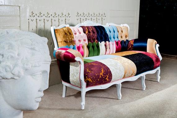 Patchwork Sofa, Patchwork Interior Decoration Ideas, Patchwork Furniture, Patchwork  Furniture Ideas