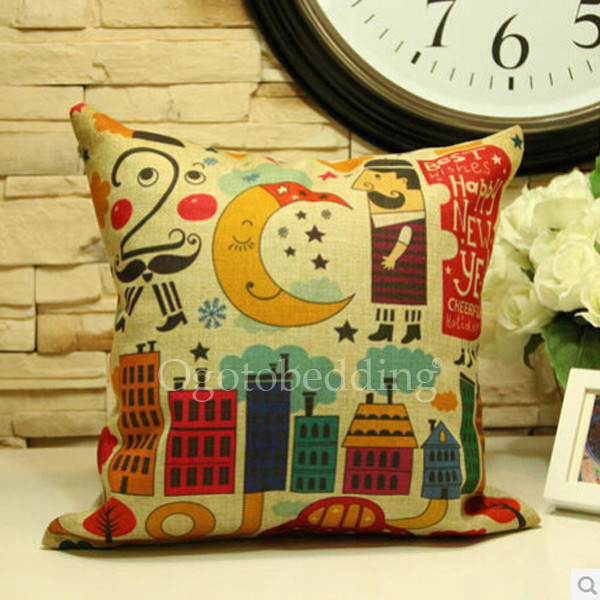 pillow, moon, building, decorative pillow, graphic pillow