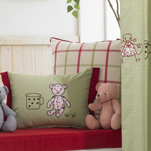 Eco-friendly-Green-Embroidery-Blackout-Curtains-of-Cotton-for-Kids-Two-Panels-C0768-02