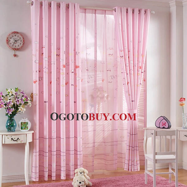 Pink-Window-Curtains-Designed-for-Girls-Bedrooms-OGTBY150115135348-1, girls' curtains, pink curtains