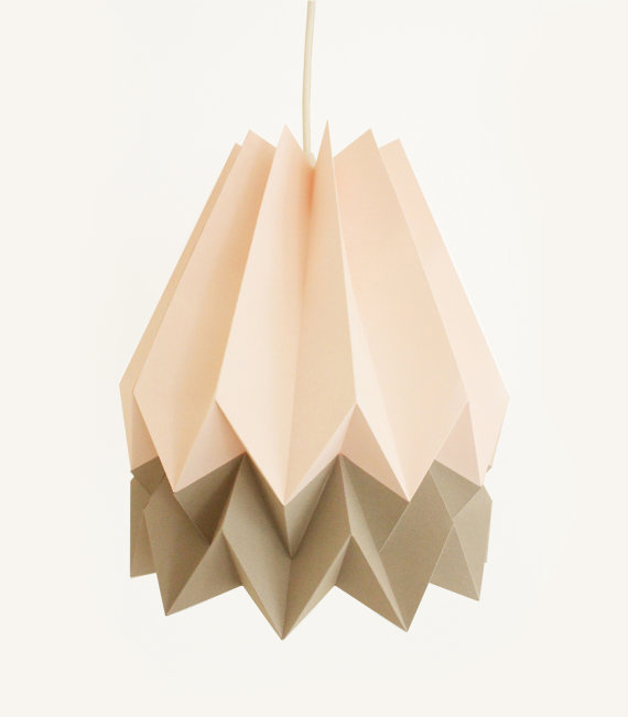 origami light, origami pendant light, origami design, folding paper light, folding paper pendant light