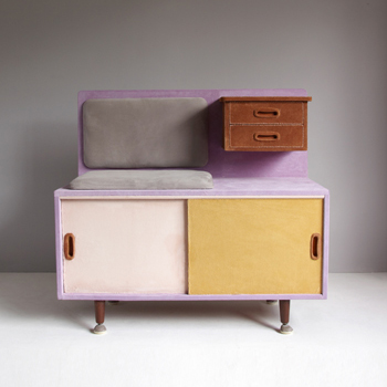 Dressed furniture, soojin Kang, patched furniture, patchwork furniture, handmade furniture, korean designer